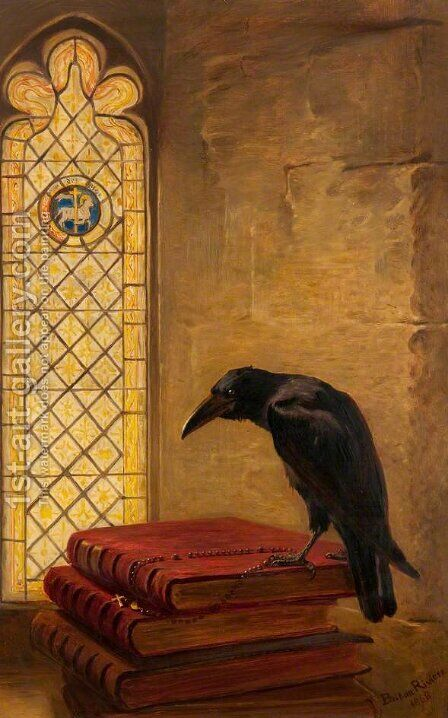 A Saint, from the 'Jackdaw of Rheims' by Briton Rivière - Reproduction Oil Painting