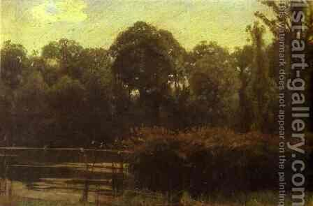 Pond by Ivan Nikolaevich Kramskoy - Reproduction Oil Painting