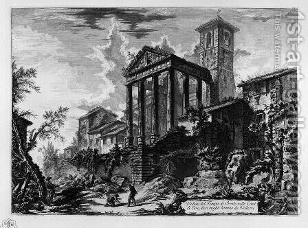 View of the source and the caverns of Egeria by Giovanni Battista Piranesi - Reproduction Oil Painting