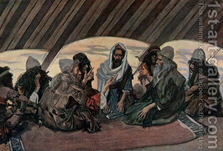 Jethro and Moses, as in Exodus 18 by James Jacques Joseph Tissot - Reproduction Oil Painting