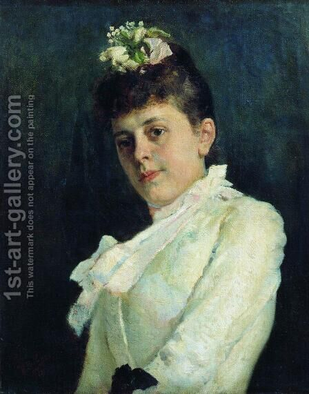 Portrait of a Woman 3 by Ilya Efimovich Efimovich Repin - Reproduction Oil Painting