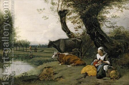 Pastoral Scene by Jan Siberechts - Reproduction Oil Painting