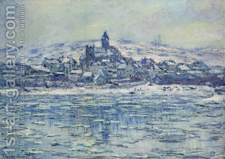 Vetheuil, Ice Floes by Claude Oscar Monet - Reproduction Oil Painting
