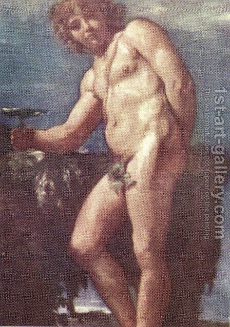 Bacchus by Annibale Carracci - Reproduction Oil Painting