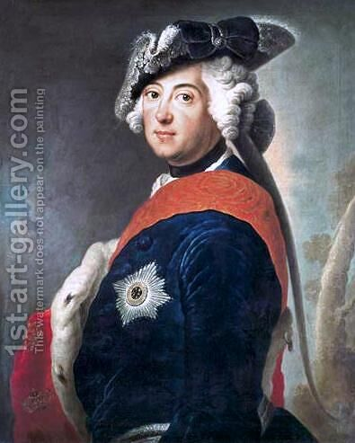Frederick II of Prussia by Antoine Pesne - Reproduction Oil Painting