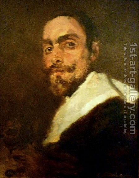 Retrato do Professor Joao Barreira by Columbano Bordalo Pinheiro - Reproduction Oil Painting