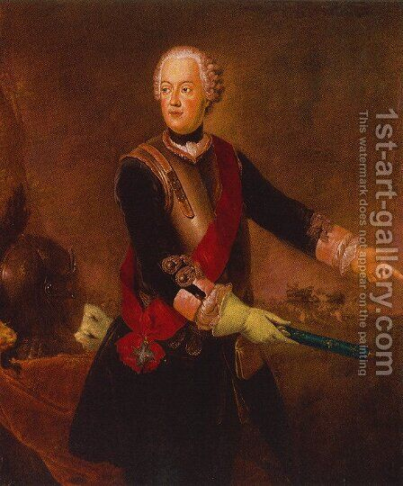 Prince Augustus William of Prussia by Antoine Pesne - Reproduction Oil Painting