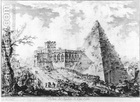 Vedute di Roma 72 by Giovanni Battista Piranesi - Reproduction Oil Painting