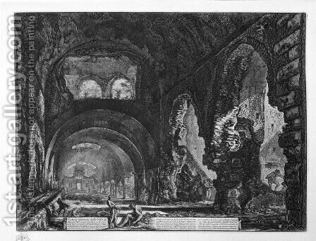 Interior view of the Villa of Maecenas by Giovanni Battista Piranesi - Reproduction Oil Painting