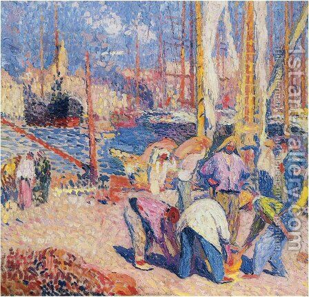 Marseilles 2 by Henri Martin - Reproduction Oil Painting