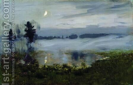 Fog over water by Isaak Ilyich Levitan - Reproduction Oil Painting