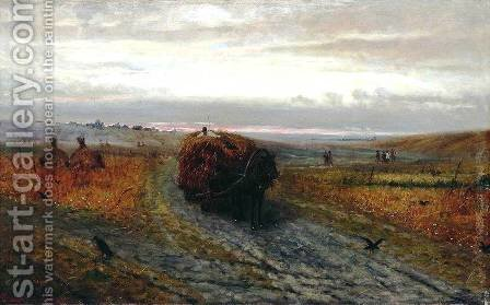 During Haying by Efim Efimovich Volkov - Reproduction Oil Painting