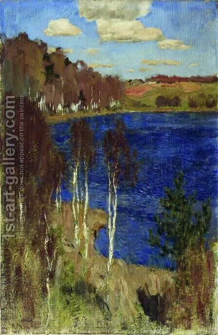 Lake. Spring. by Isaak Ilyich Levitan - Reproduction Oil Painting