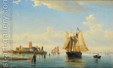 Laguna di Venezia by Anton Melbye - Reproduction Oil Painting
