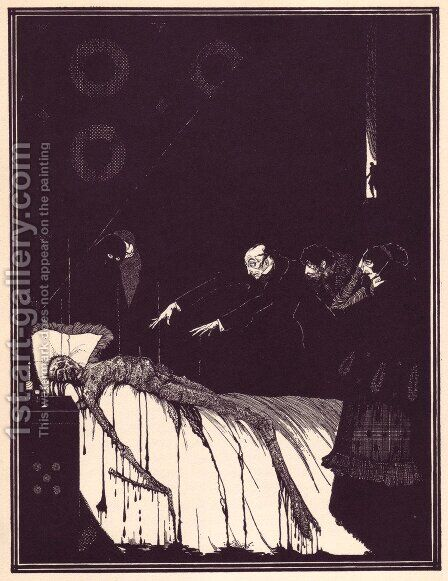 Tales of Mystery and Imagination by Edgar Allan Poe 17 by Harry Clarke - Reproduction Oil Painting