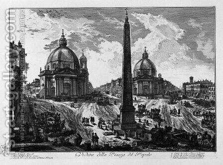Interior view of the tomb of St. Constance made by Constantine the Great and erroneously called the Temple of Bacchus by Giovanni Battista Piranesi - Reproduction Oil Painting