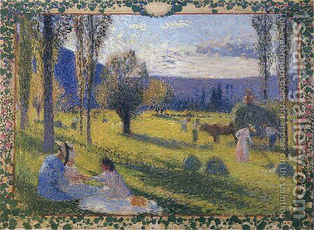 The Harvest 3 by Henri Martin - Reproduction Oil Painting