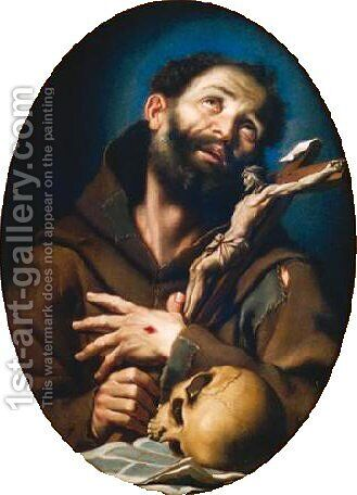 St. Francis of Assisi by Bernardo Strozzi - Reproduction Oil Painting