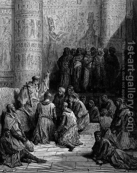 Christian Cavaliers Captive at Cairo by Gustave Dore - Reproduction Oil Painting