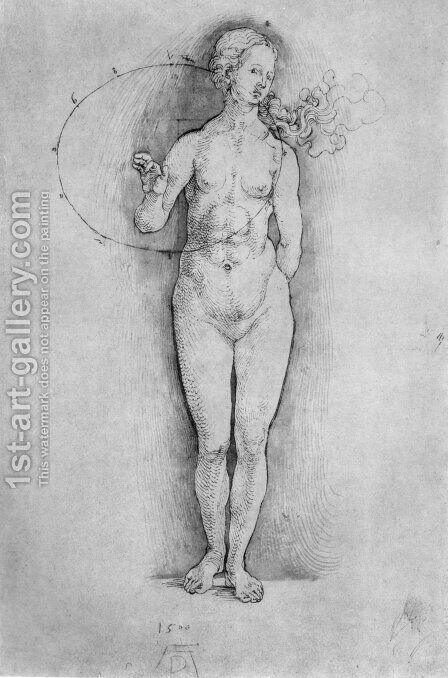 Female Nude 2 by Albrecht Durer - Reproduction Oil Painting