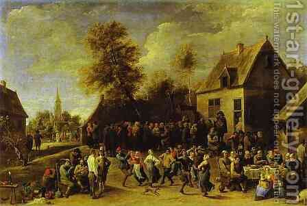 Country celebration by David The Younger Teniers - Reproduction Oil Painting