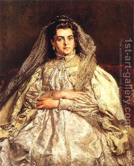 Teodora Matejko by Jan Matejko - Reproduction Oil Painting