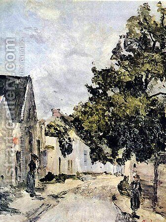 Street from Barbizon during summer time by Ion Andreescu - Reproduction Oil Painting