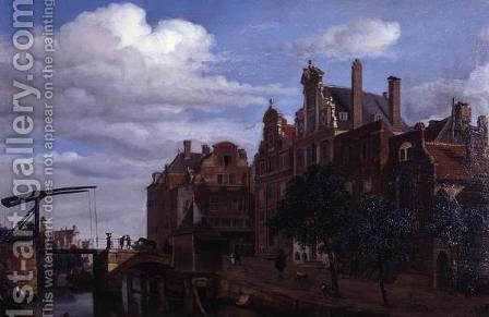 View in Amsterdam by Adriaen Van De Velde - Reproduction Oil Painting