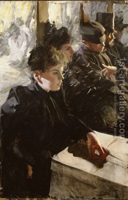 Omnibus by Anders Zorn - Reproduction Oil Painting
