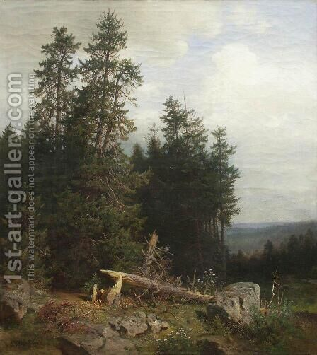 At the edge of the forest 2 by Ivan Shishkin - Reproduction Oil Painting