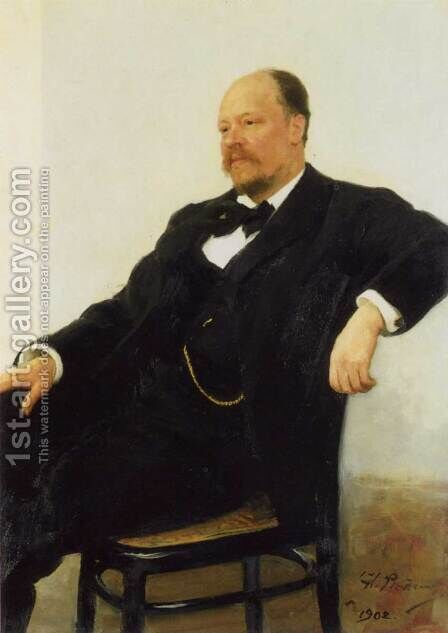 Portrait of the composer Anatoly Konstantinovich Lyadov by Ilya Efimovich Efimovich Repin - Reproduction Oil Painting