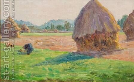 The Haystacks by Armand Guillaumin - Reproduction Oil Painting