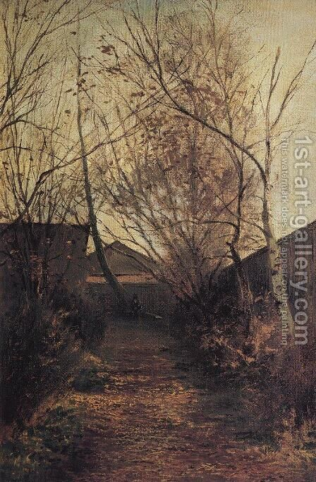 Alley by Alexei Kondratyevich Savrasov - Reproduction Oil Painting