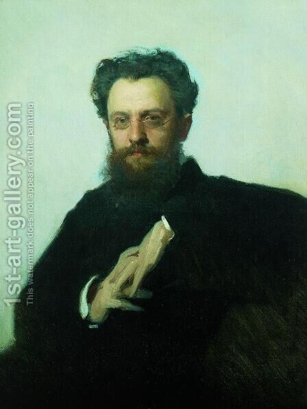 Adrian Viktorovich Prahova portrait, art historian and art critic by Ivan Nikolaevich Kramskoy - Reproduction Oil Painting