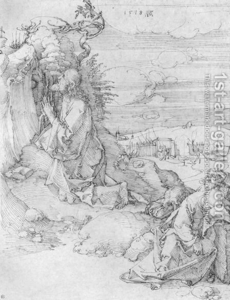 Christ on the Mount of Olives 5 by Albrecht Durer - Reproduction Oil Painting