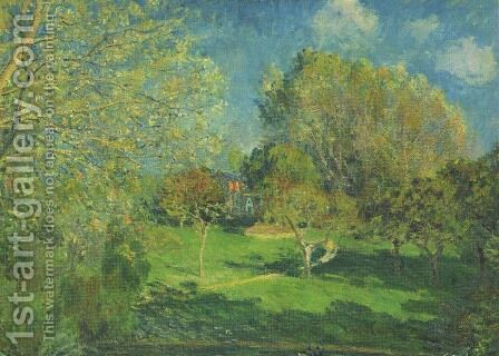 The Garden of Hoschede, Montgeron by Alfred Sisley - Reproduction Oil Painting