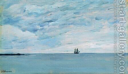 Sea by the coasts of Finland by Isaak Ilyich Levitan - Reproduction Oil Painting