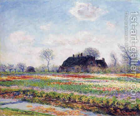 Tulip Fields at Sassenheim, near Leiden by Claude Oscar Monet - Reproduction Oil Painting