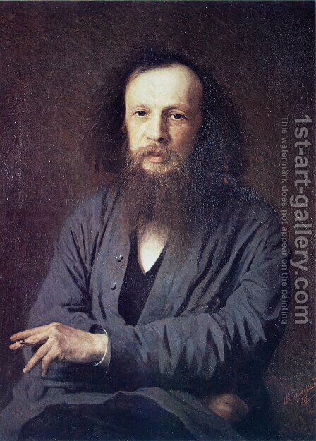 D. I. Mendeleev by Ivan Nikolaevich Kramskoy - Reproduction Oil Painting