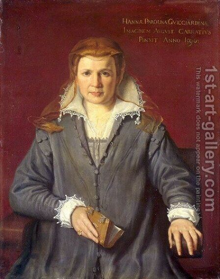 Ann Parolini Guicciardini by Agostino Carracci - Reproduction Oil Painting