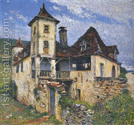 Herm's house by Henri Martin - Reproduction Oil Painting