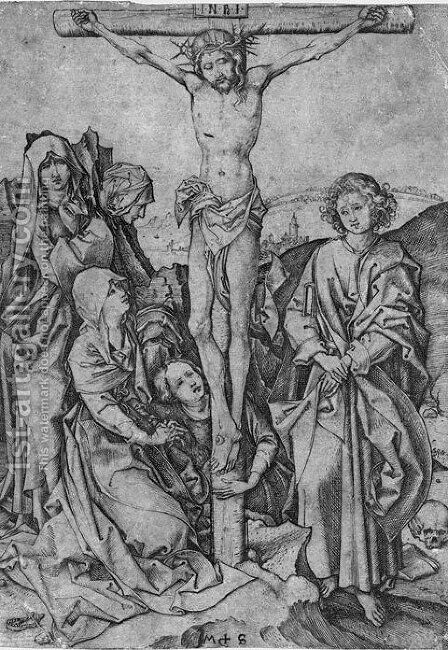 Crusifixion by Martin Schongauer - Reproduction Oil Painting