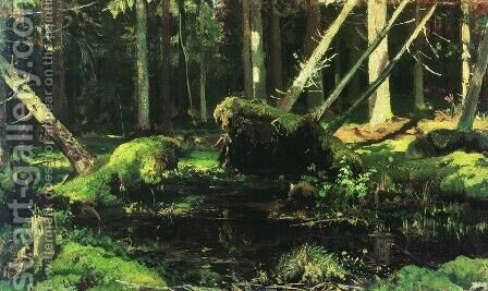 Wind Fallen Trees 2 by Ivan Shishkin - Reproduction Oil Painting