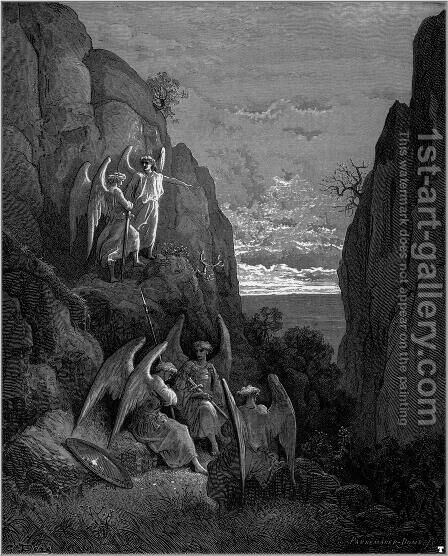 Paradise Lost 5 by Gustave Dore - Reproduction Oil Painting
