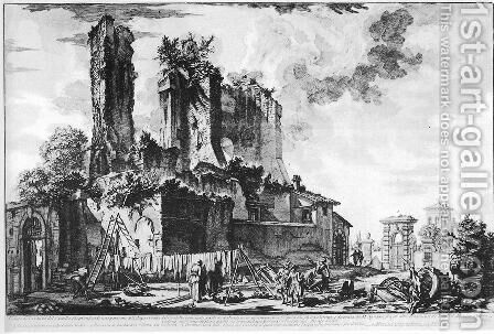 Vedute di Roma 76 by Giovanni Battista Piranesi - Reproduction Oil Painting