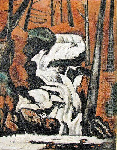 Smelt Brook Falls by Marsden Hartley - Reproduction Oil Painting