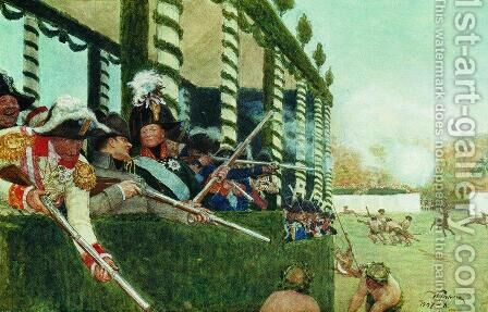 Emperor Alexander I and Emperor Napoleon in the hunt by Ilya Efimovich Efimovich Repin - Reproduction Oil Painting