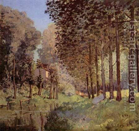 The rest beside d'un Creek by Alfred Sisley - Reproduction Oil Painting
