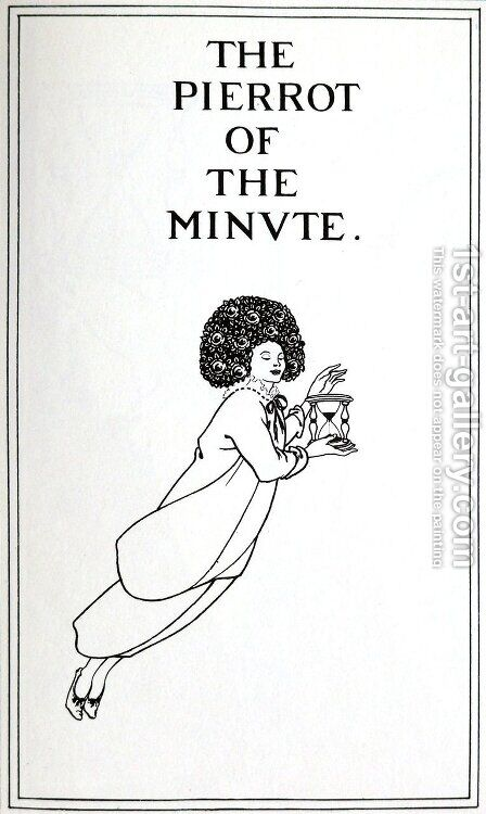 Front Cover by Aubrey Vincent Beardsley - Reproduction Oil Painting