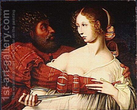 Tarquin and Lucretia by Jan Sanders Van Hemessen - Reproduction Oil Painting